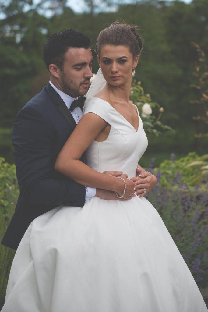 bride and groom bellingham castle